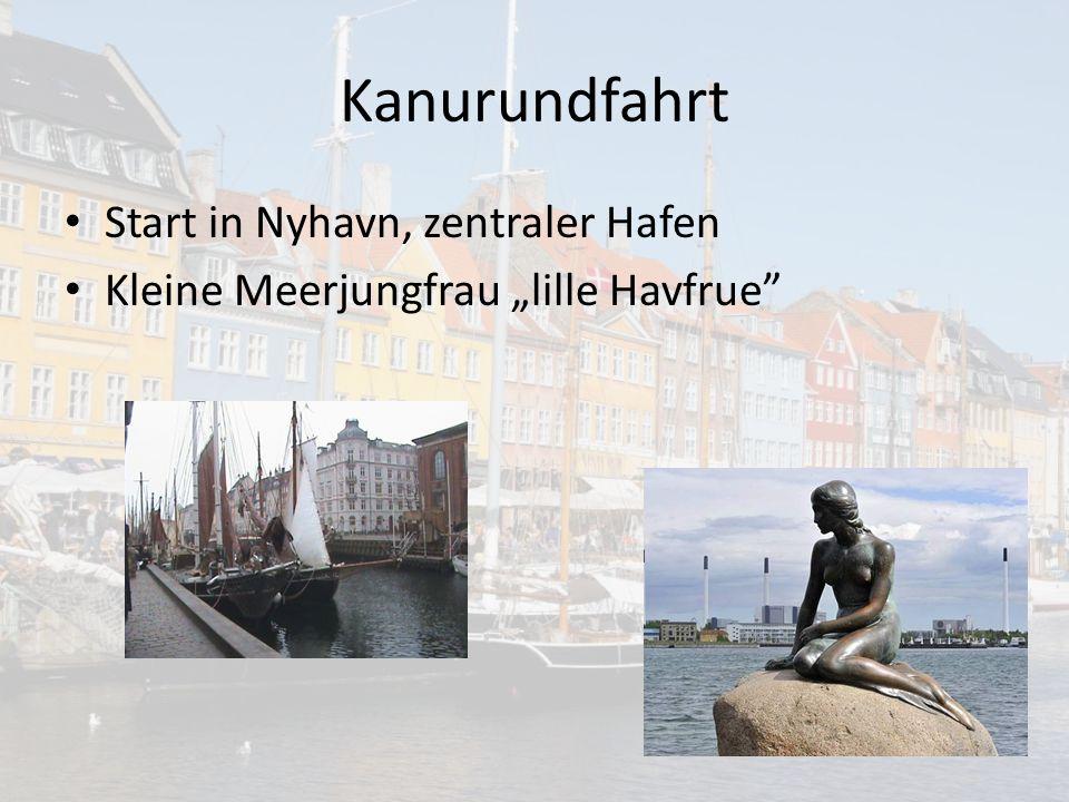 """Kanurundfahrt Start in Nyhavn, zentraler Hafen Kleine Meerjungfrau """"lille Havfrue"""