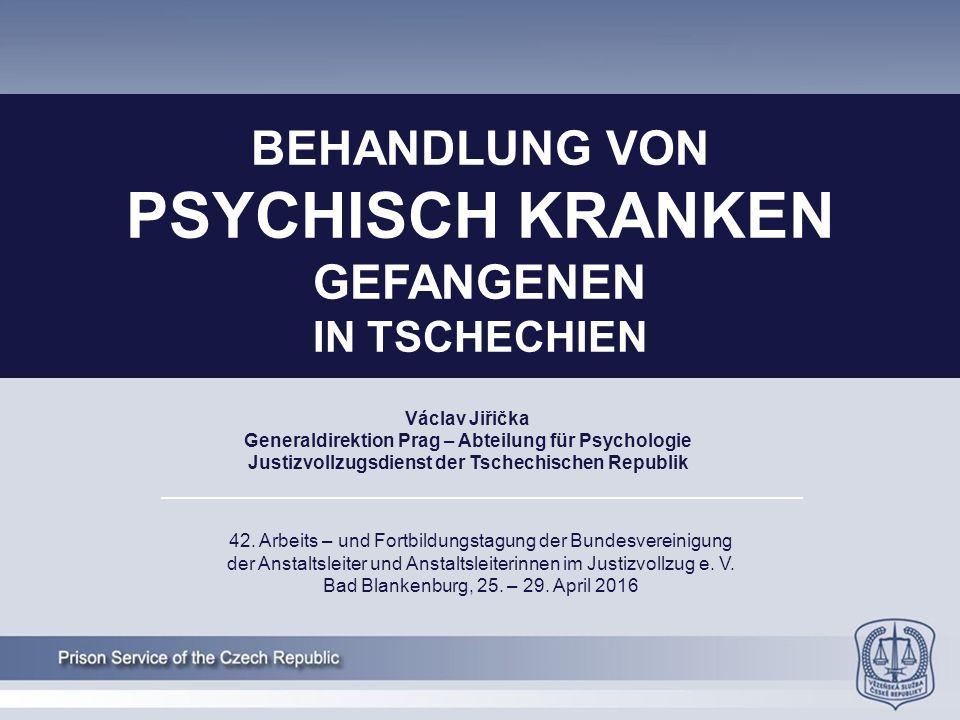 Václav Jiřička Generaldirektion Prag – Abteilung für Psychologie Justizvollzugsdienst der Tschechischen Republik 42.