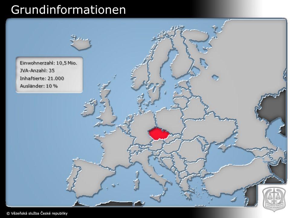 Einwohnerzahl: 10,5 Mio. JVA-Anzahl: 35 Inhaftierte: 21.000 Ausländer: 10 % Grundinformationen