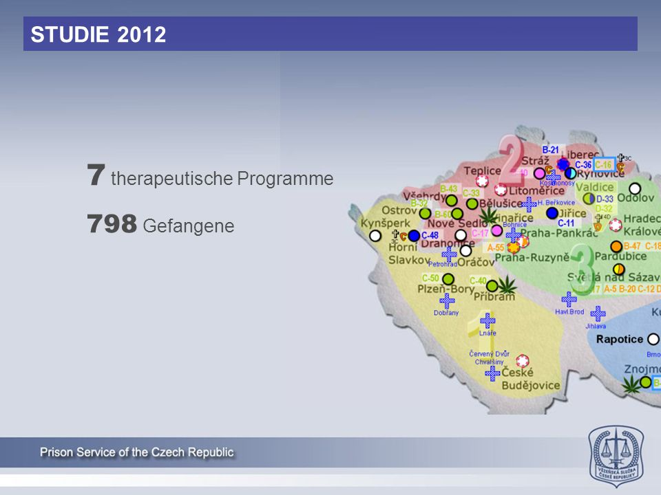 STUDIE 2012 7 therapeutische Programme 798 Gefangene