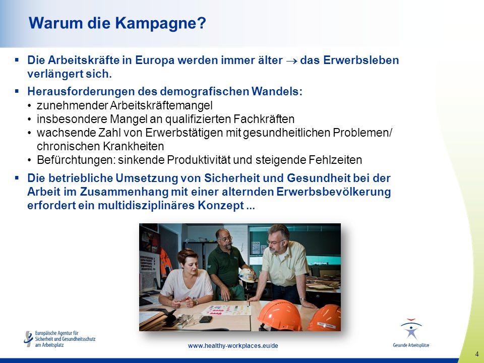 5 www.healthy-workplaces.eu/de Prävention während des gesamten Erwerbslebens — ein ganzheitlicher Ansatz  Die Gesundheit im späteren Leben wird von den Arbeitsbedingungen in früheren Lebensphasen beeinflusst.