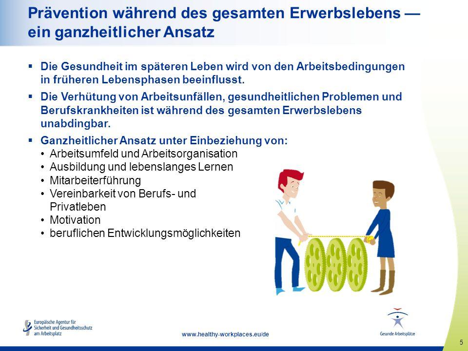 """16 www.healthy-workplaces.eu/de Angebot zur europäischen Kampagnenpartnerschaft  Erfolgreiche Partnerschaften zwischen der EU-OSHA und den wichtigsten Interessensvertretern trägern sind für den Erfolg der Kampagne von entscheidender Bedeutung  Gesamteuropäische und internationale Unternehmen können offizielle Kampagnenpartner werden  Zu den Vorteilen zählen: ein Begrüßungspaket eine Bescheinigung über die Partnerschaft eine Sonderkategorie """"Kampagnenpartner beim Europäischen Wettbewerb für gute praktische Lösungen Werbung auf EU-Ebene und in den Medien Vernetzungsmöglichkeiten und Austausch bewährter Praktiken mit anderen Kampagnenpartnern Einladungen zu Veranstaltungen der EU-OSHA"""