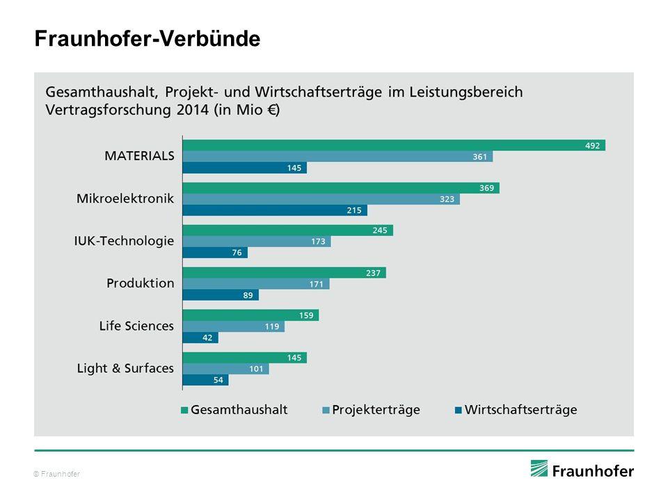© Fraunhofer Fraunhofer-Verbünde