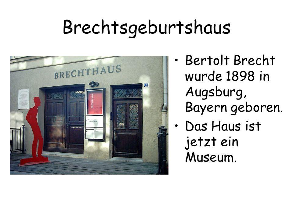 Brechtsgeburtshaus Bertolt Brecht wurde 1898 in Augsburg, Bayern geboren.