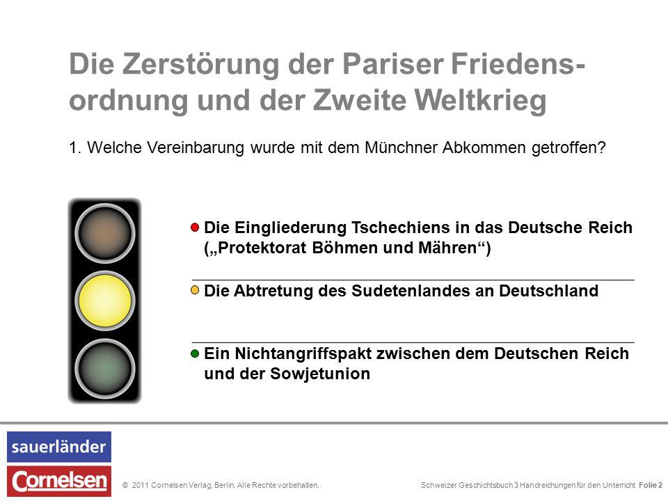 Schweizer Geschichtsbuch 3 Handreichungen für den Unterricht Folie 0© 2011 Cornelsen Verlag, Berlin.