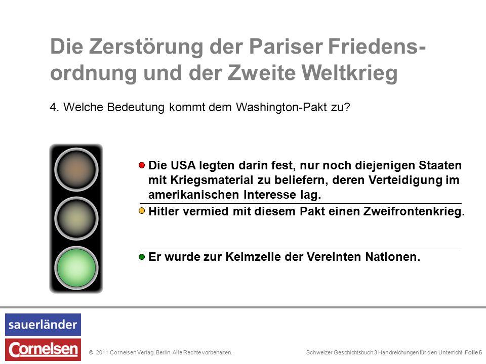 Schweizer Geschichtsbuch 3 Handreichungen für den Unterricht Folie 0© 2011 Cornelsen Verlag, Berlin. Alle Rechte vorbehalten. Hitler vermied mit diese