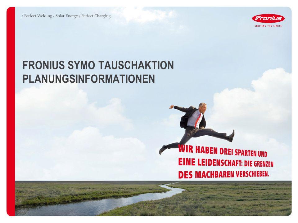 FRONIUS SYMO TAUSCHAKTION PLANUNGSINFORMATIONEN