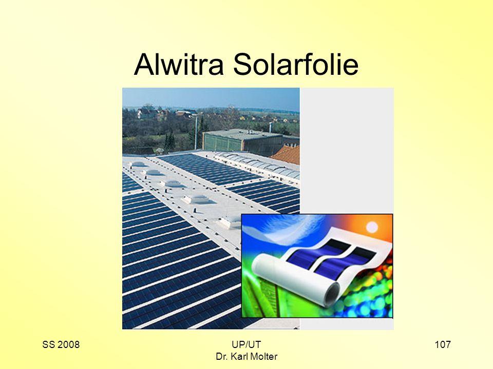 SS 2008UP/UT Dr. Karl Molter 107 Alwitra Solarfolie