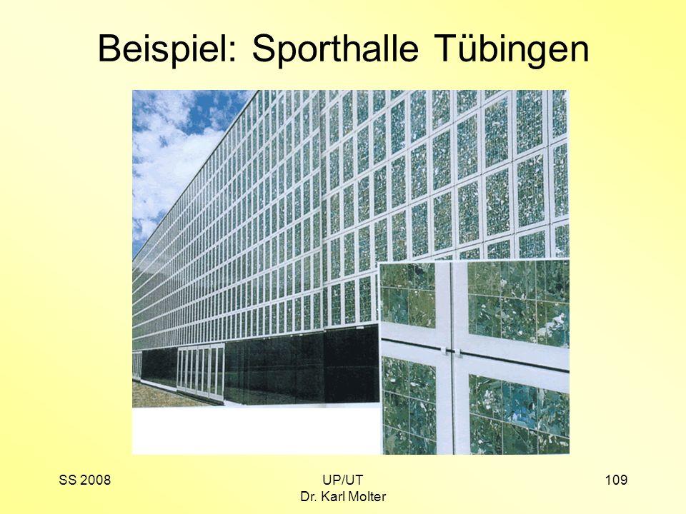 SS 2008UP/UT Dr. Karl Molter 109 Beispiel: Sporthalle Tübingen