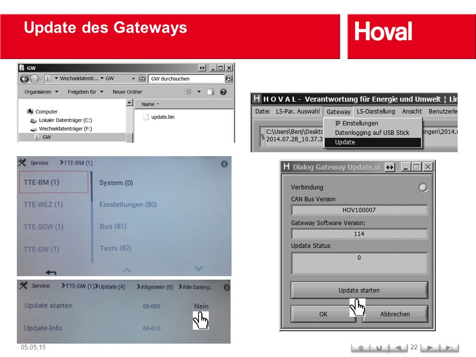Update des Gateways 05.05.1522