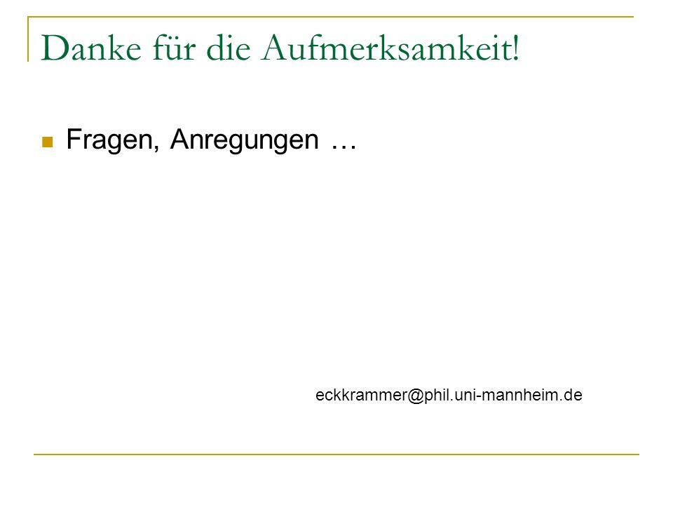 Danke für die Aufmerksamkeit! Fragen, Anregungen … eckkrammer@phil.uni-mannheim.de