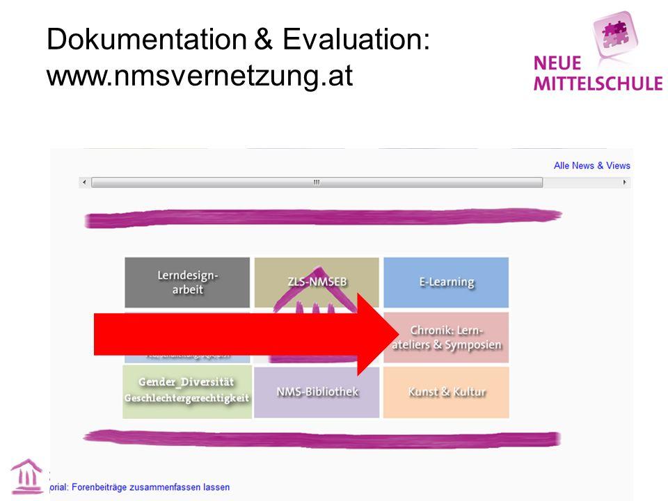 Dokumentation & Evaluation: www.nmsvernetzung.at