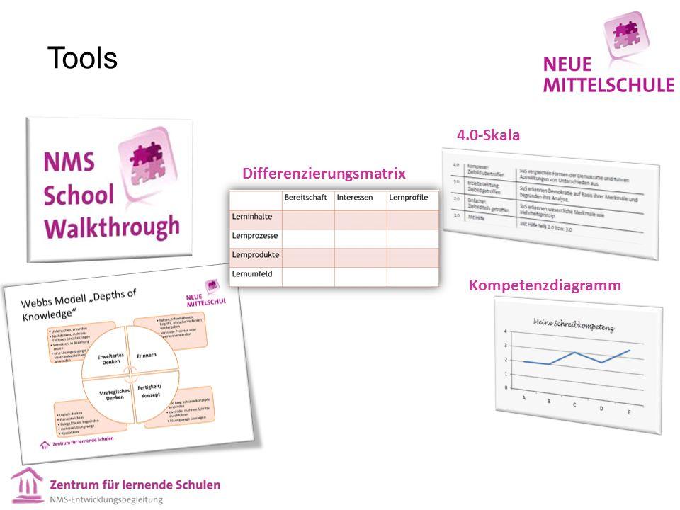 Tools 4.0-Skala Kompetenzdiagramm Differenzierungsmatrix