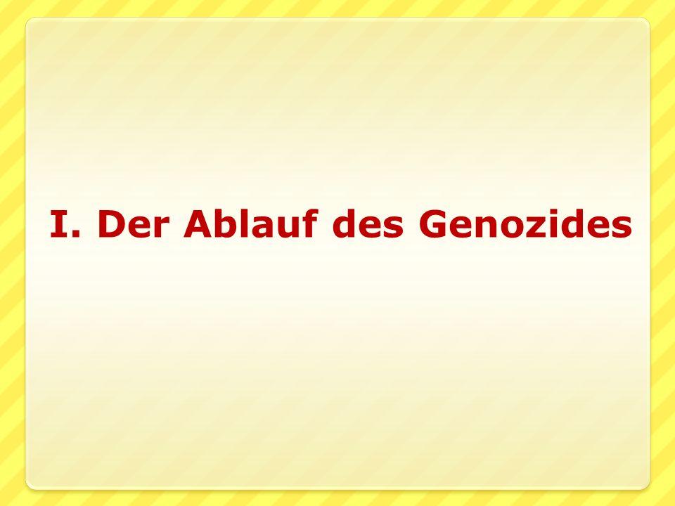 I. Der Ablauf des Genozides