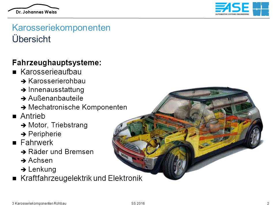 SS 20163 Karosseriekomponenten Rohbau13 Quelle: BMW / 2005 Karosseriekomponenten Rohbau / Anforderungen / statische Torsionssteifigkeit