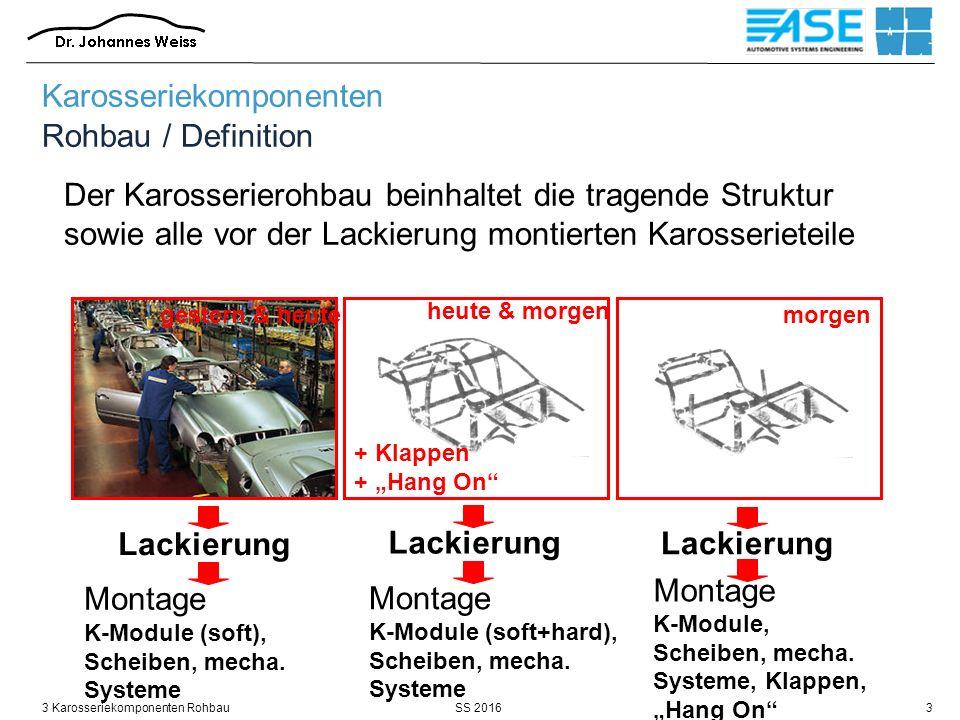 SS 20163 Karosseriekomponenten Rohbau14 Quelle: BMW / 2005 Karosseriekomponenten Rohbau / Anforderungen / dynamischen Steifigkeit