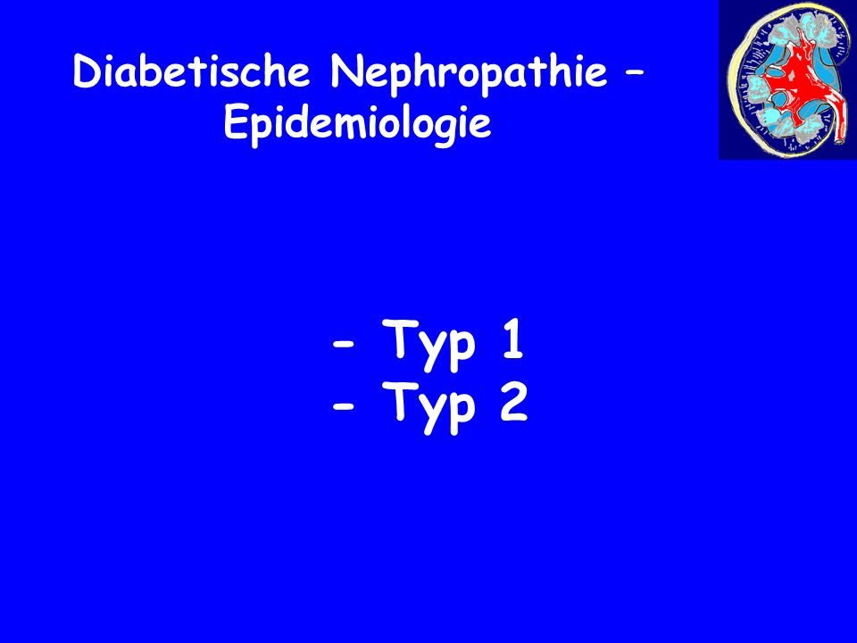 Diabetische Nephropathie- Epidemiologie Typ 1 Epidemiological Perspectives on Type 1 Diabetes in Childhood and Adolescence in Germany 20 years of the Baden-Württemberg Diabetes Incidence Registry (DIARY), Diabetes Care Volume 33,Number 2, February 2010