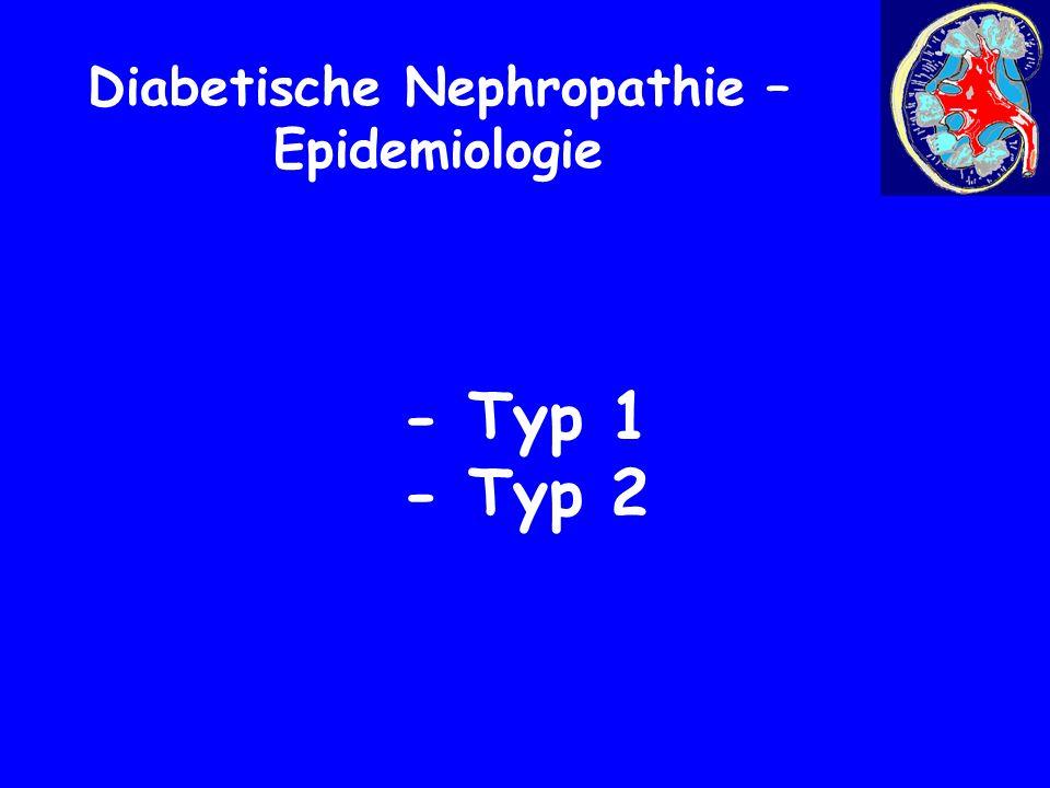 - Typ 1 - Typ 2 Diabetische Nephropathie – Epidemiologie