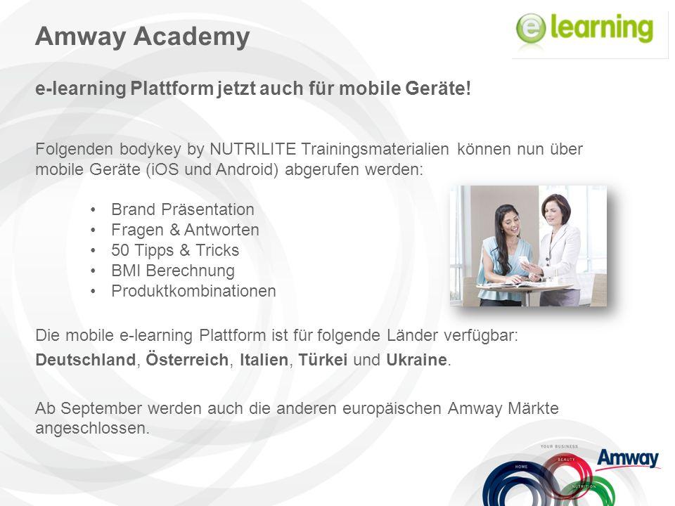 Amway Academy e-learning Plattform jetzt auch für mobile Geräte.