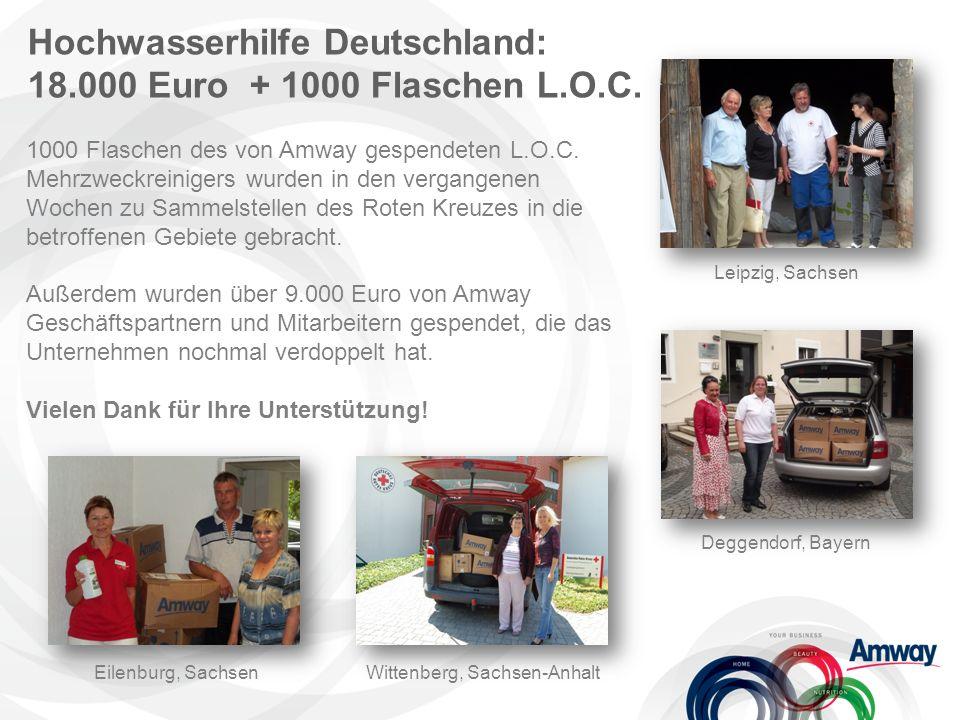 Hochwasserhilfe Deutschland: 18.000 Euro + 1000 Flaschen L.O.C.