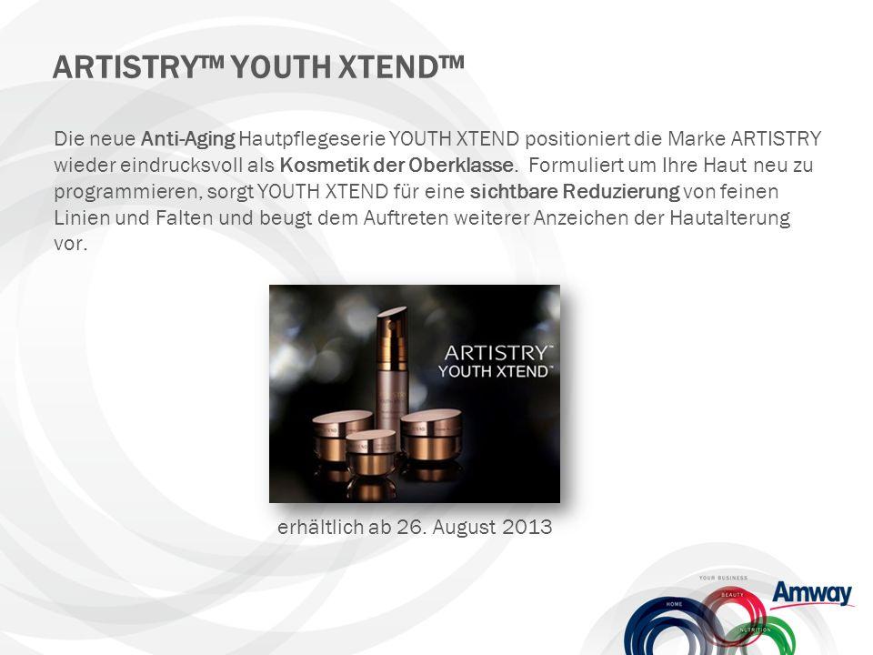 Die neue Anti-Aging Hautpflegeserie YOUTH XTEND positioniert die Marke ARTISTRY wieder eindrucksvoll als Kosmetik der Oberklasse.