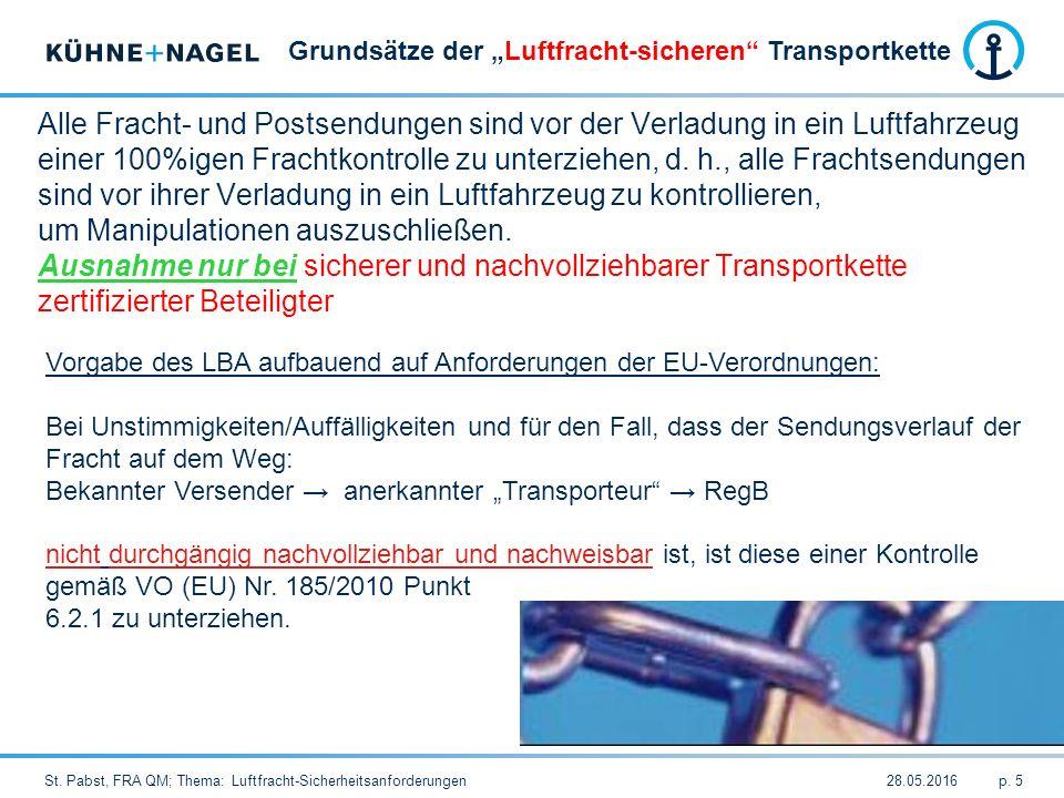 28.05.2016St.Pabst, FRA QM; Thema: Luftfracht-Sicherheitsanforderungenp.