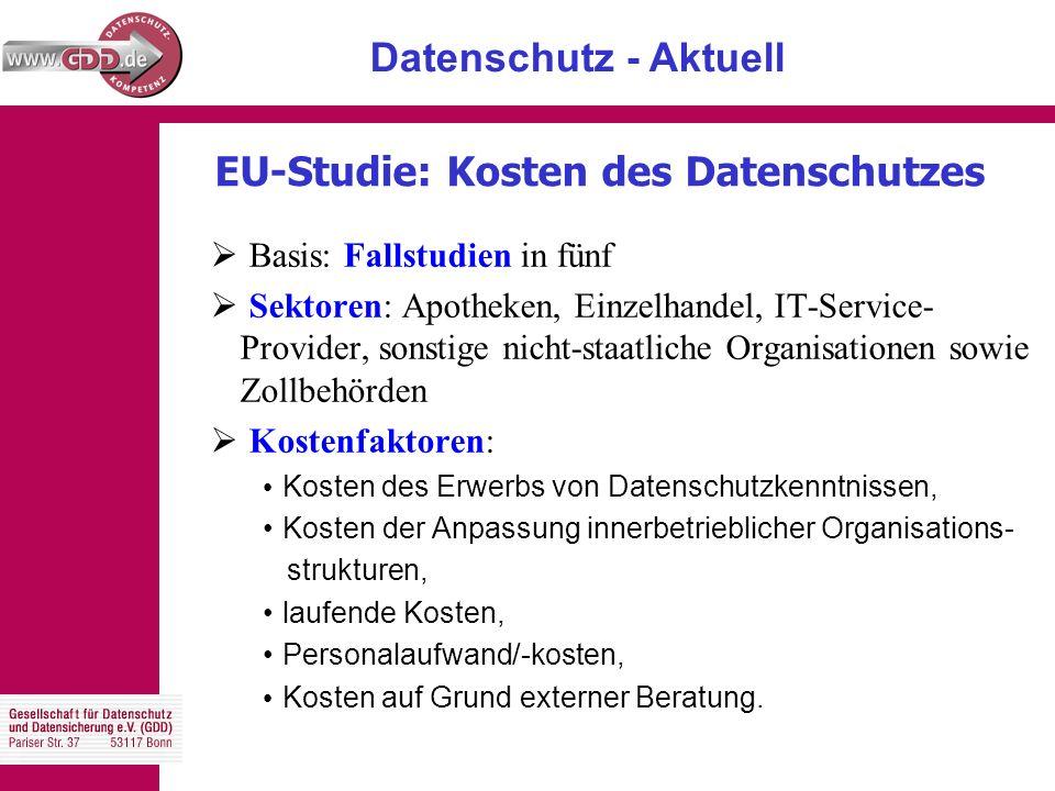 Datenschutz - Aktuell Mitgliederentwicklung 2005 - 2006 11.05.06 ∑ 1.822 01.01.06 ∑ 1.750 01.01.05 ∑ 1.660