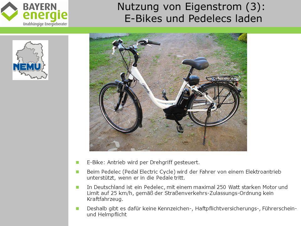 Nutzung von Eigenstrom (3): E-Bikes und Pedelecs laden E-Bike: Antrieb wird per Drehgriff gesteuert.