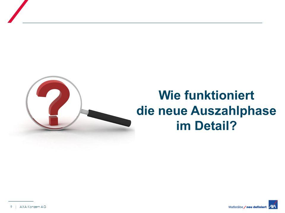9 | AXA Konzern AG Wie funktioniert die neue Auszahlphase im Detail