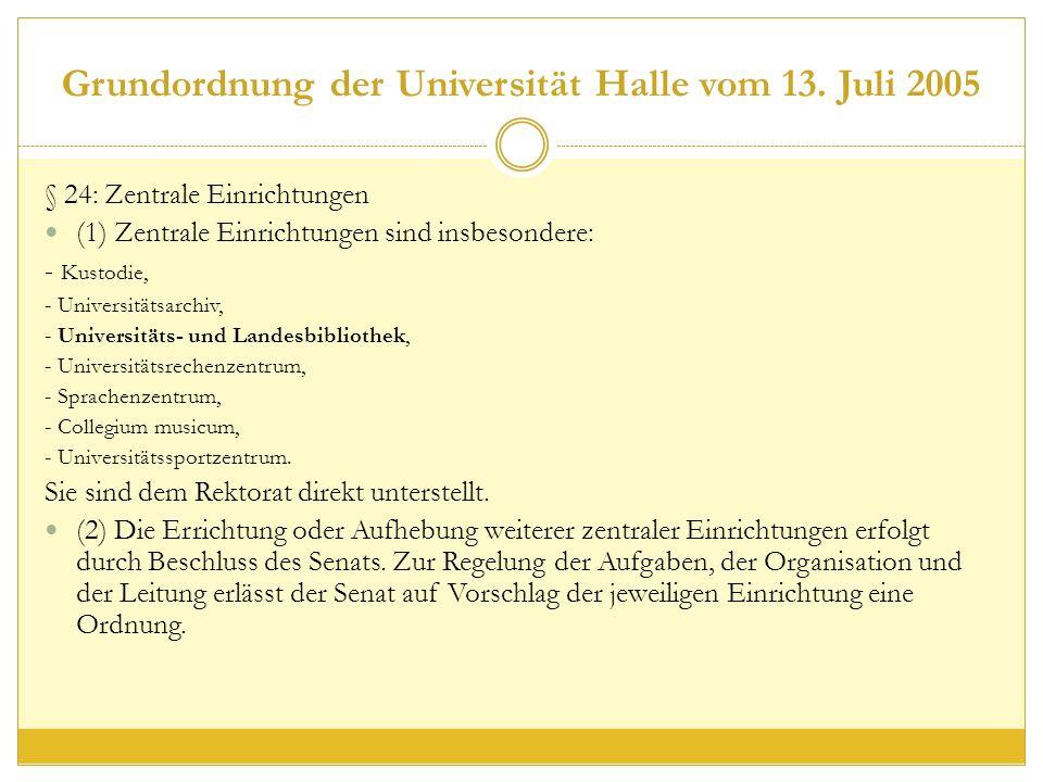 Grundordnung der Universität Halle vom 13.