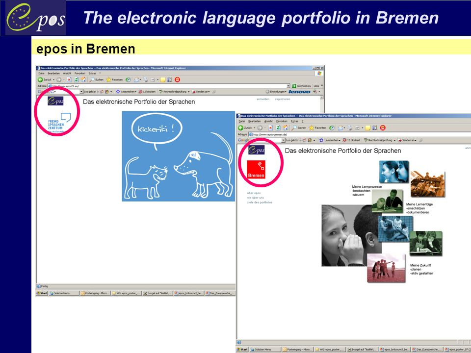 The electronic language portfolio in Bremen Beate Vogel, Maribor, 16.12.2010 standard-based process-based interaction-based ELP: Unity in diversity ELP: Transparency, coherence and dialogue ELP: ownership