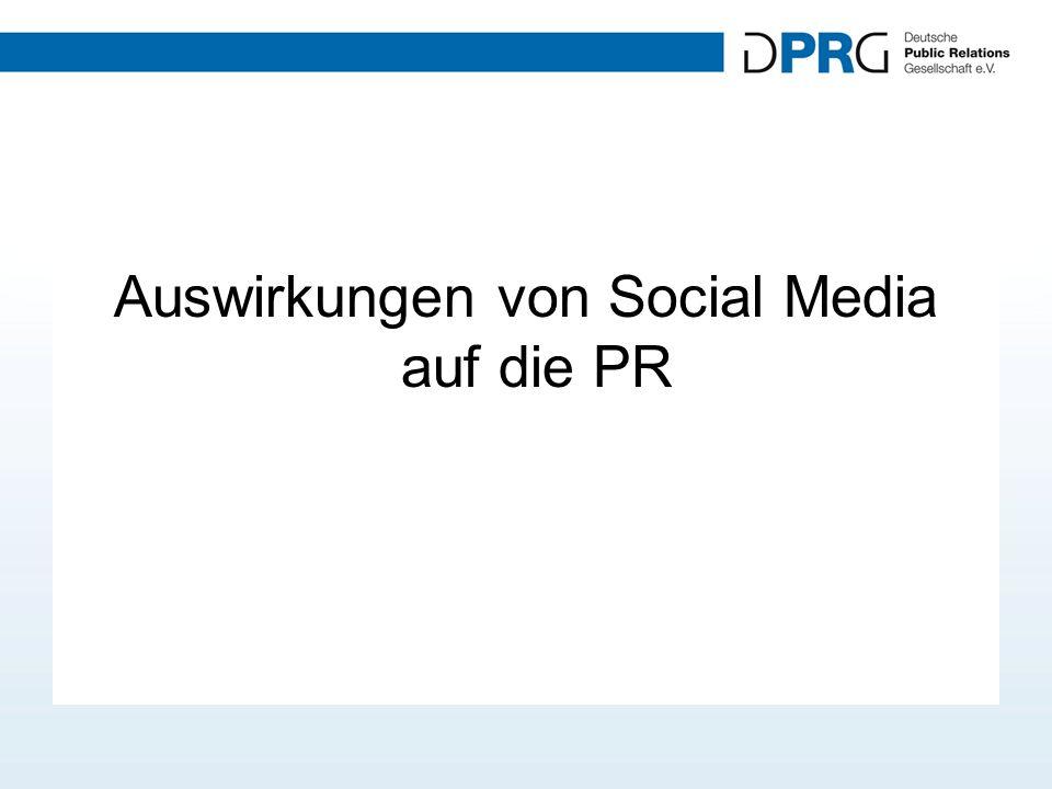 Auswirkungen von Social Media auf die PR