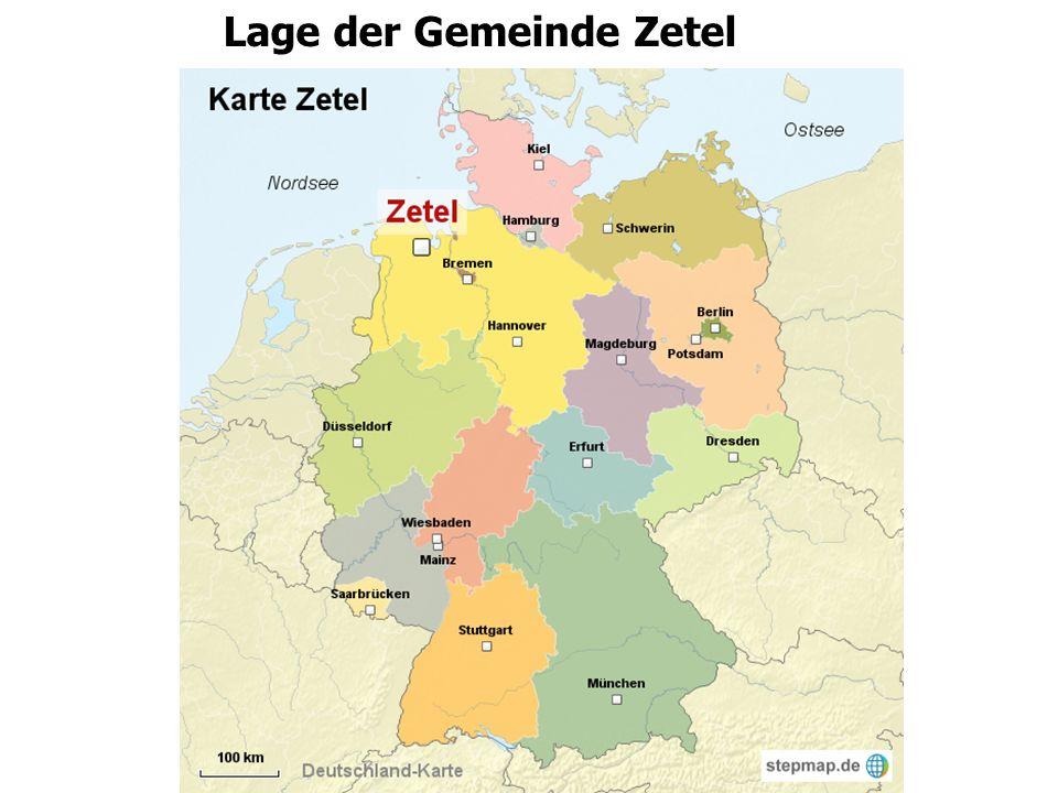 Lage der Gemeinde Zetel