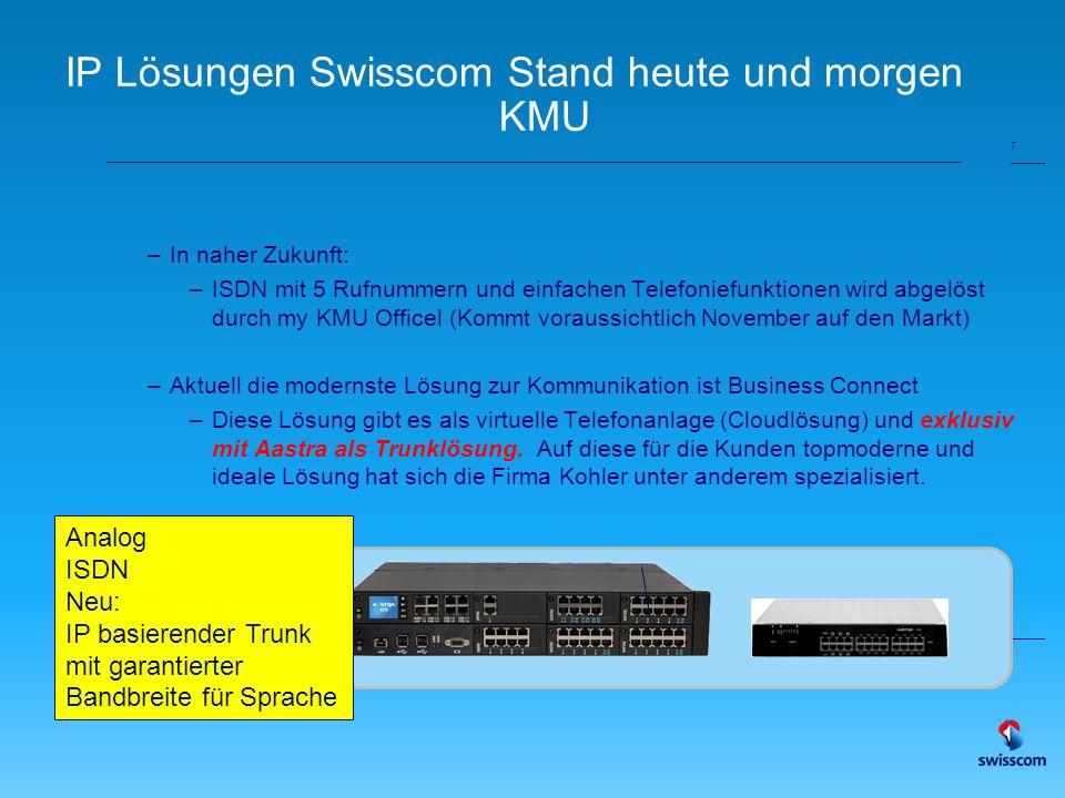 Der Business Connect Trunk und ihre Aastra Lösung 19.08.2014 Patrick Mächler