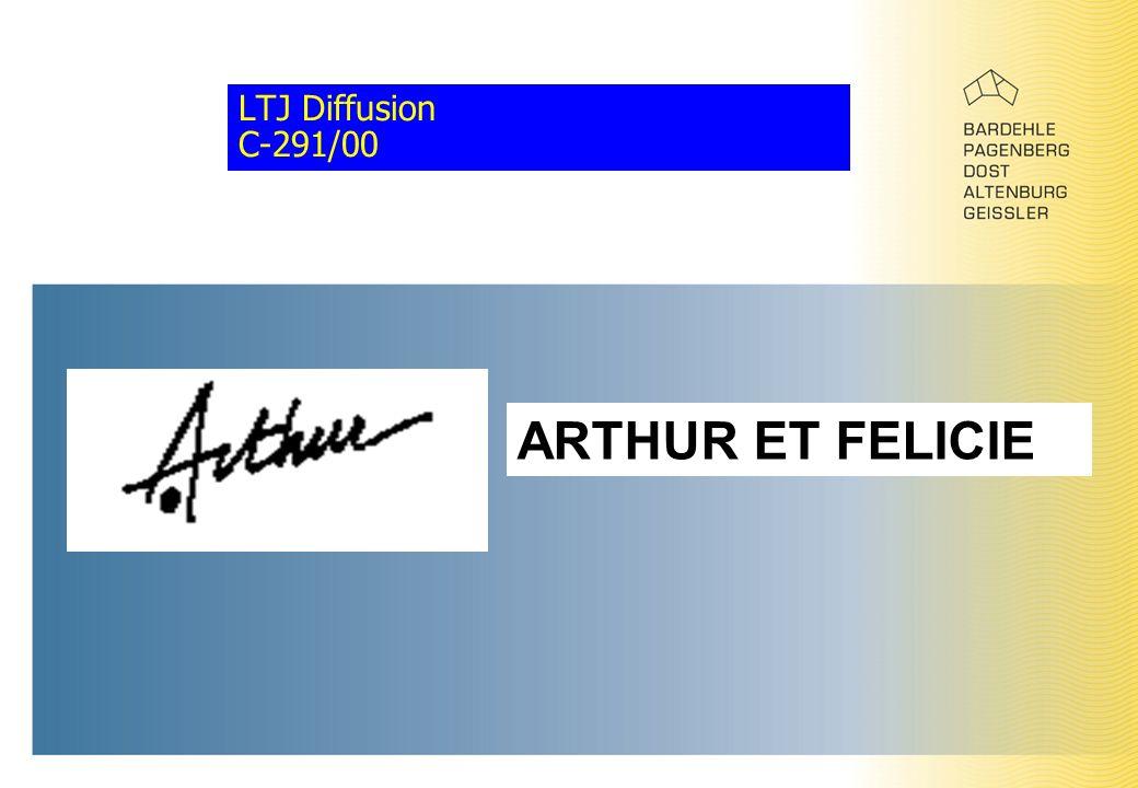 LTJ Diffusion C-291/00 ARTHUR ET FELICIE