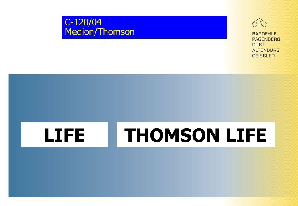 C-120/04 Medion/Thomson LIFETHOMSON LIFE