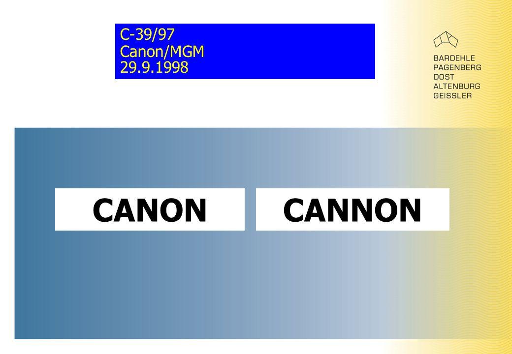C-39/97 Canon/MGM 29.9.1998 CANONCANNON
