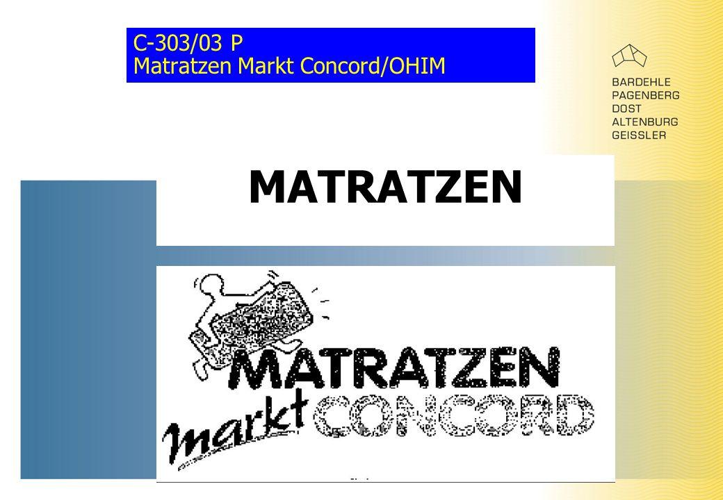 C-303/03 P Matratzen Markt Concord/OHIM MATRATZEN