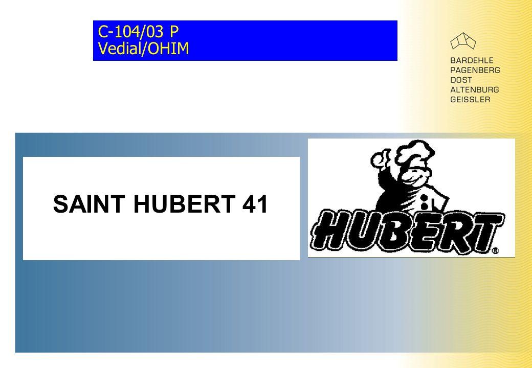 C-104/03 P Vedial/OHIM SAINT HUBERT 41