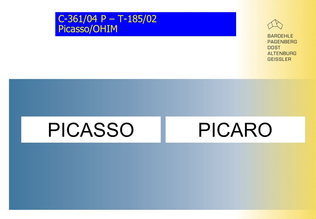 C-361/04 P – T-185/02 Picasso/OHIM PICAROPICASSO