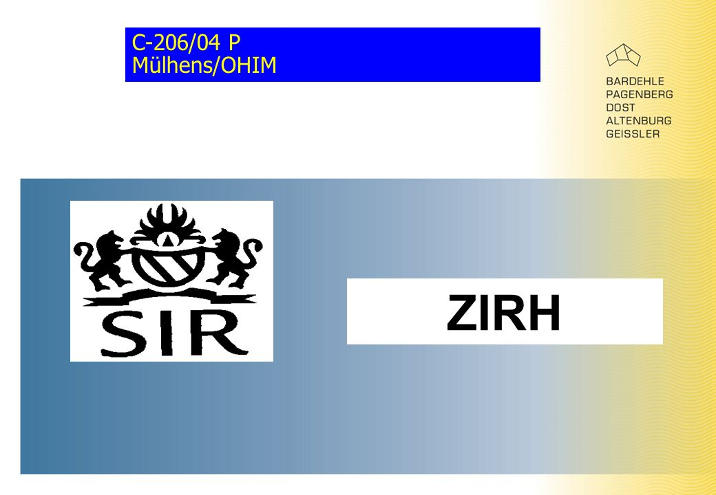 C-206/04 P Mülhens/OHIM ZIRH