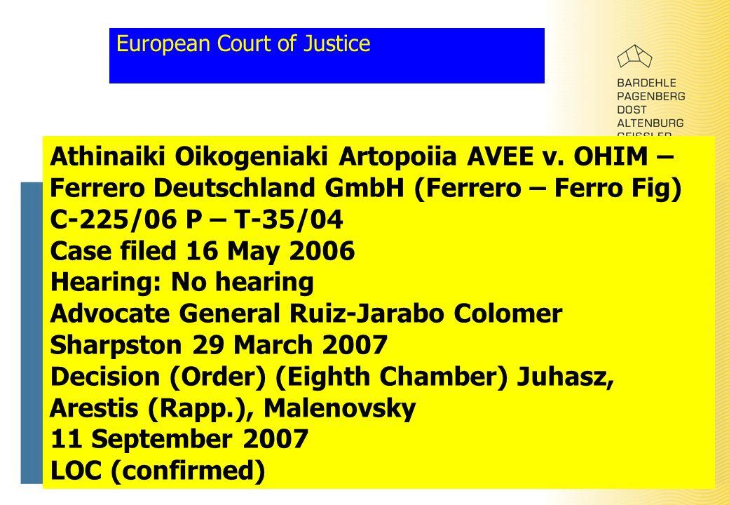 European Court of Justice Athinaiki Oikogeniaki Artopoiia AVEE v.