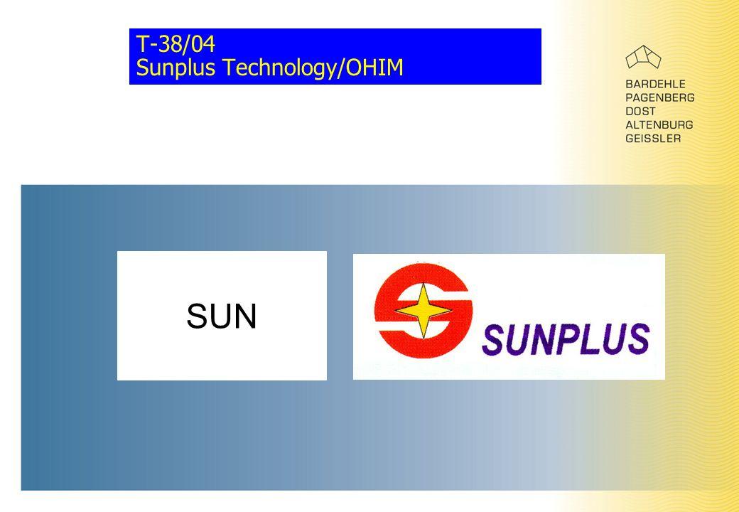 T-38/04 Sunplus Technology/OHIM SUN