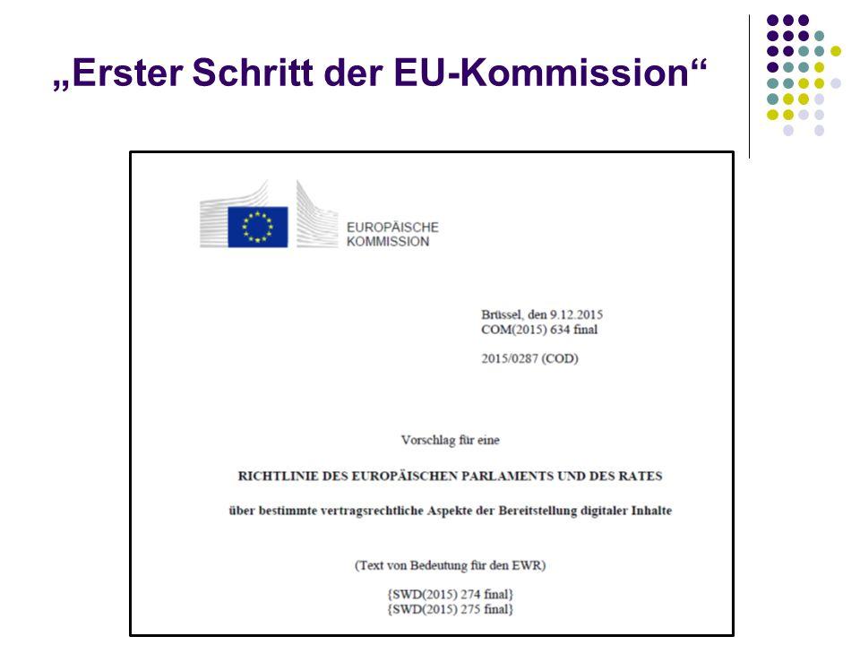 """""""Erster Schritt der EU-Kommission"""""""