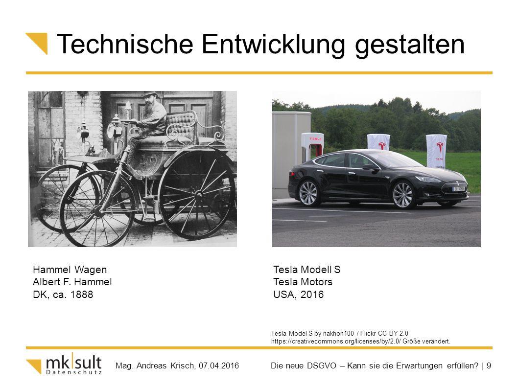 Die neue DSGVO – Kann sie die Erwartungen erfüllen? | 9 Mag. Andreas Krisch, 07.04.2016 Technische Entwicklung gestalten Tesla Model S by nakhon100 /