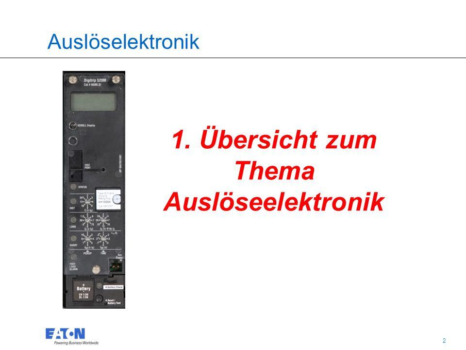 3 3 Auslöselektronik
