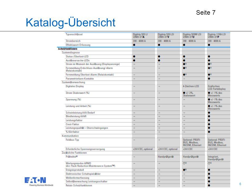 7 7 Auszug: Katalog-Bestellseite für weitere Zusatzfunktionen Seite 38 bis 40