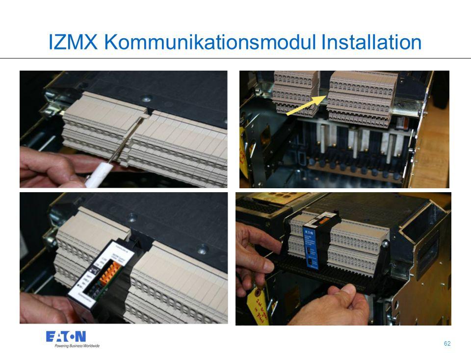 62 IZMX Kommunikationsmodul Installation