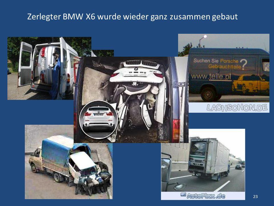 Zerlegter BMW X6 wurde wieder ganz zusammen gebaut 23