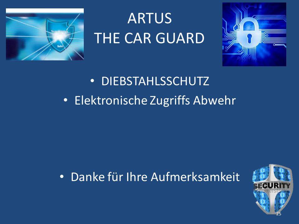 ARTUS THE CAR GUARD DIEBSTAHLSSCHUTZ Elektronische Zugriffs Abwehr Danke für Ihre Aufmerksamkeit 25